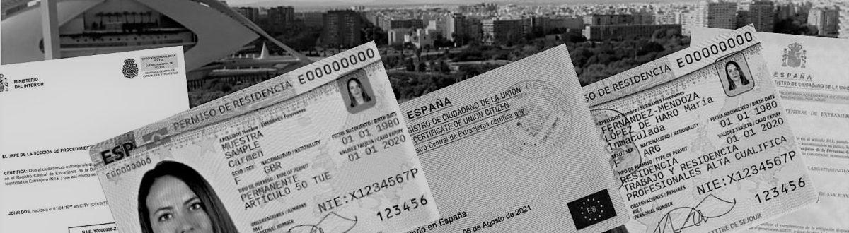 NIE TIE Residency Certificate HQW