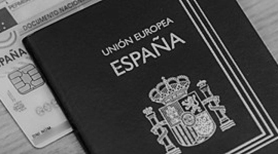 Pasaporte DNI en emsa cortado