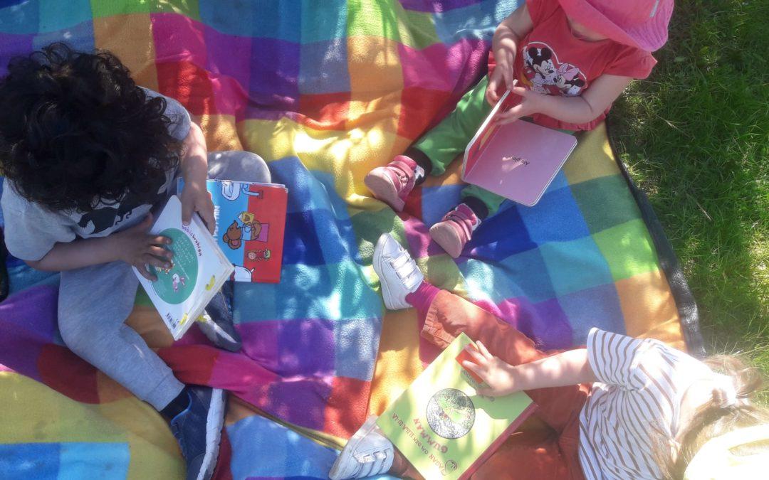 Utomhus aktiviteter i Stockholm hos förskolan Ekgården