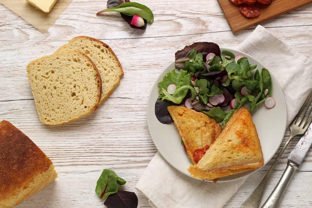 Sandwich chaud au chorizo