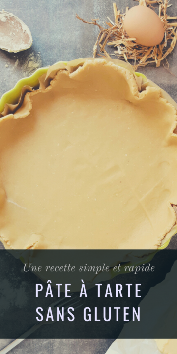 Pâte à tarte sans gluten au levain