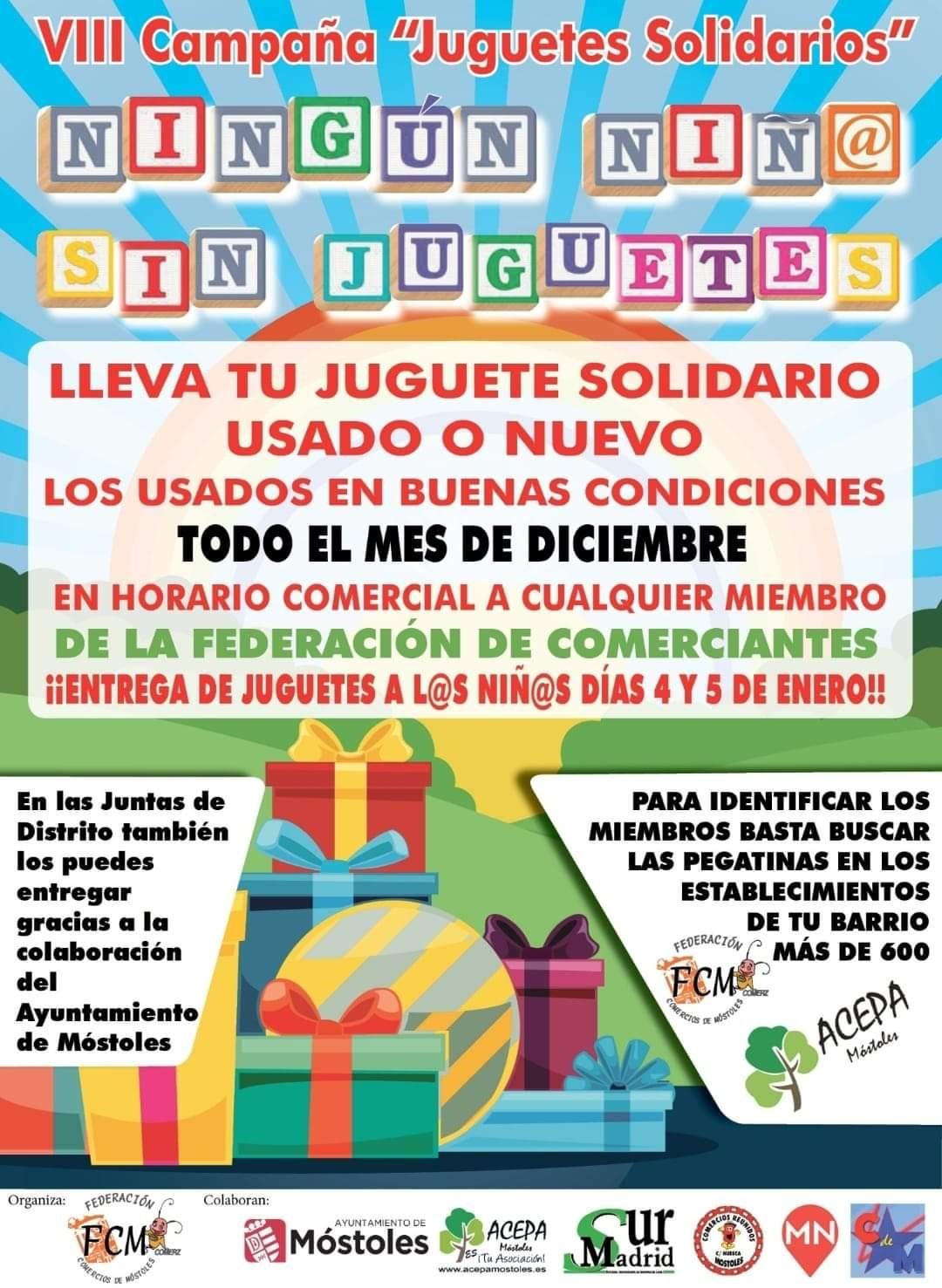 Juguetes Solidarios Federación de Comerciantes de Móstoles
