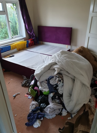 Two bedroom house Clearance Before Main Bedroom Amesbury Wiltshire