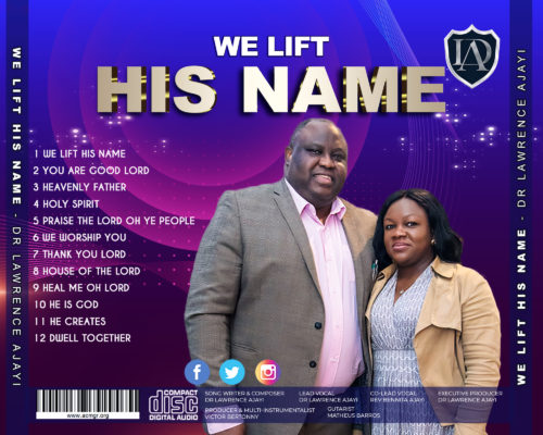 We Lift His Name-cover copy