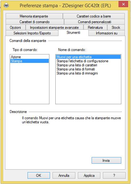 strumenti comando stampa