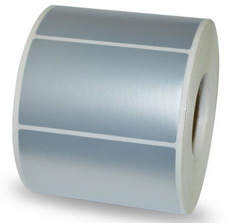 etichette in poliestere argento per ambienti esterni