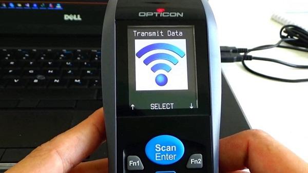 OPH3001 collegato al PC con cavo USB