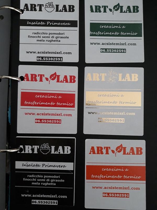 etichette con stampa in reverse