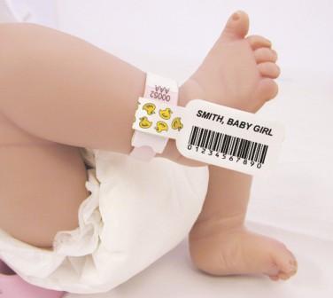 braccialetti identificativi neonato