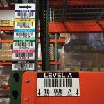 etichette colorate per magazzino e scaffali
