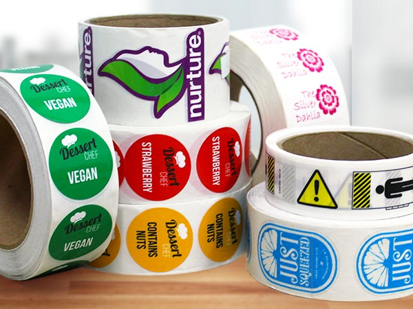 etichette adesive in bobina