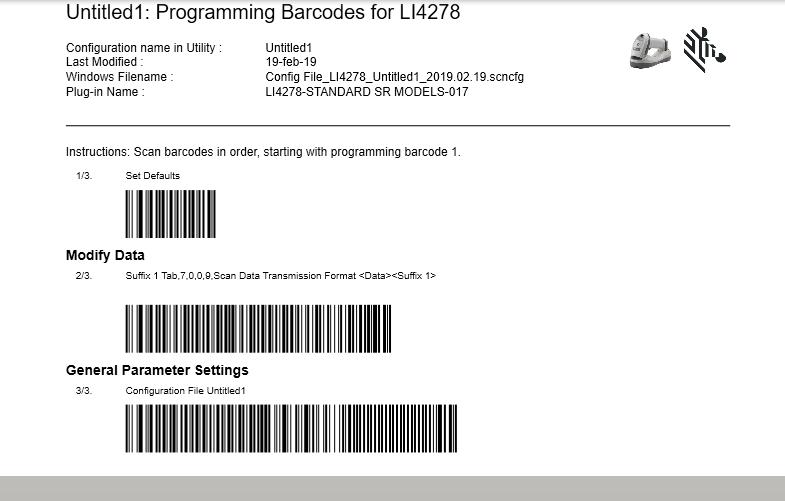 123Scan configurazione lettore di codice a barre