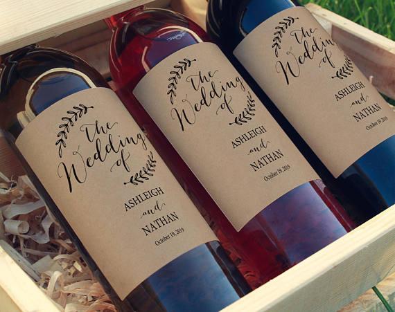 etichette per bottiglie di vino mtrimonio