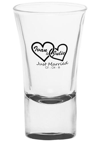 etichetta matrimonio per bicchiere