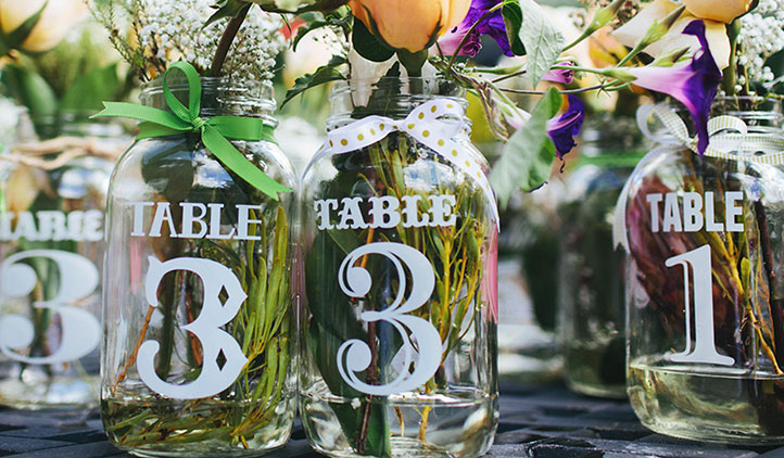 etichette matrimonio per tavoli