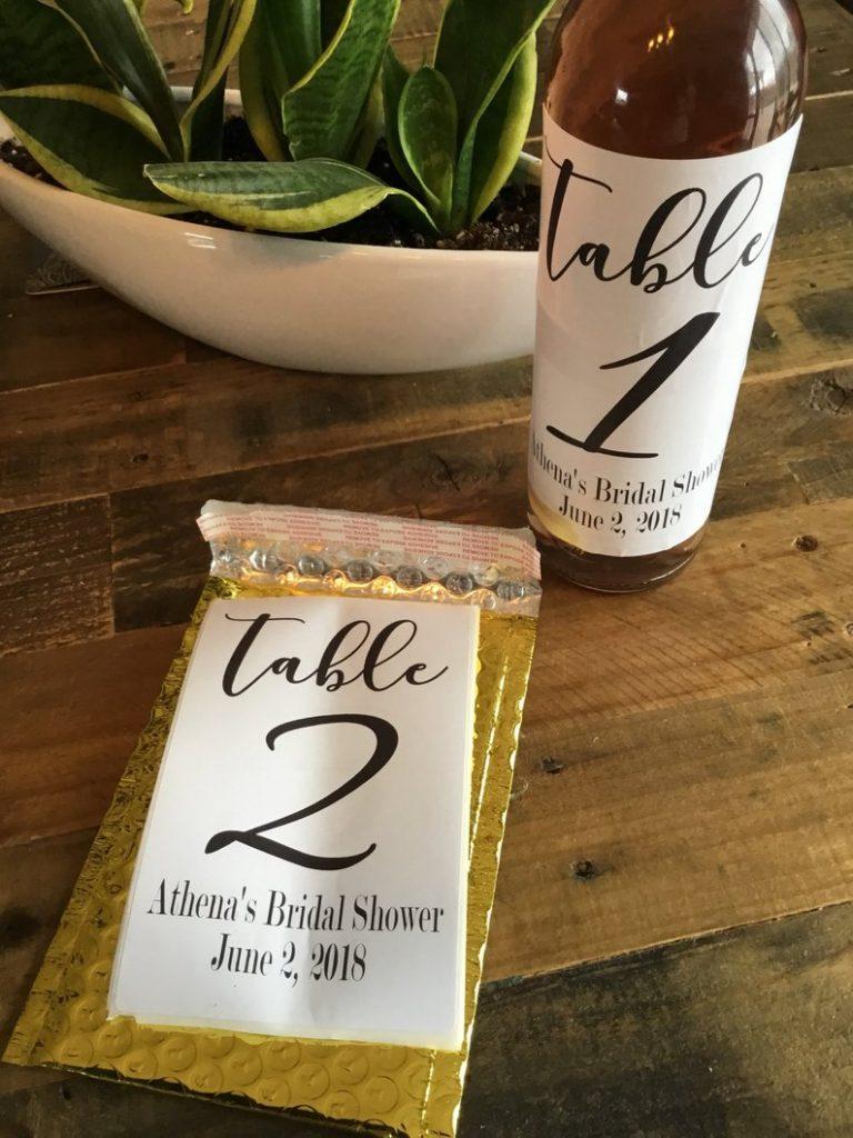 etichette matrimonio tavoli