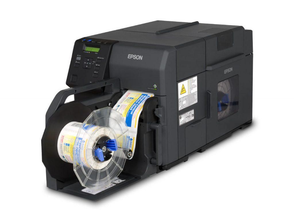 avvolgitore di etichette per stampanti a  colori