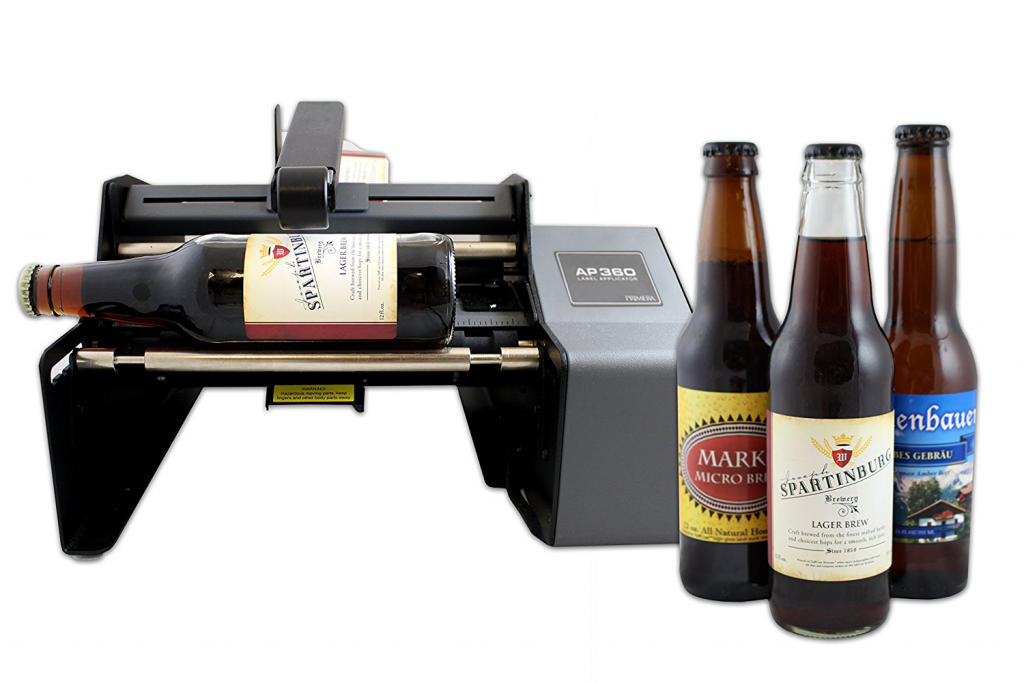 applicatore di etichette AP360 per bottiglie e vasetti