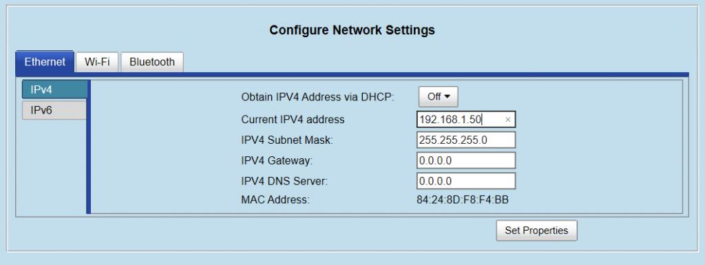 configurazione rete fx9600