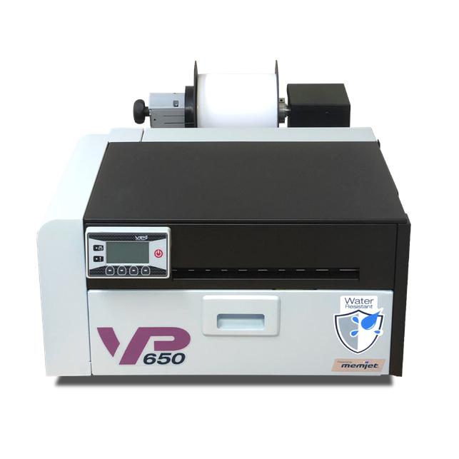 stampante di etichette a colori VP650 stampe resistenti all'acqua