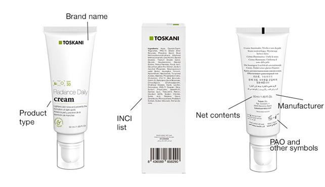 etichette per prodotti osmetici