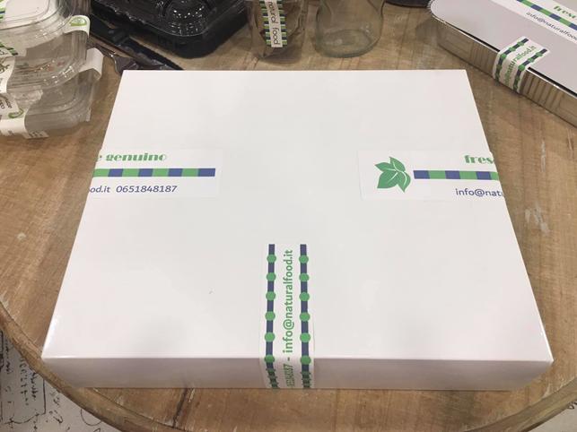 etichette per scatole cibi in cartone
