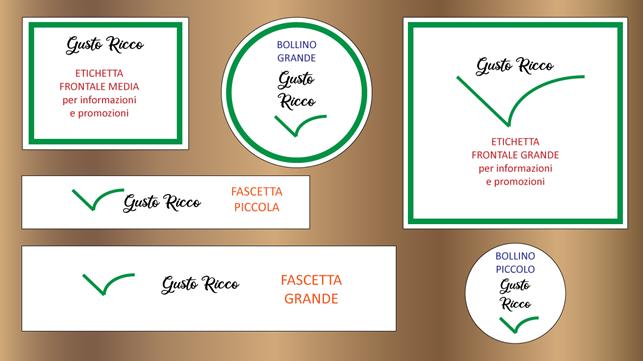 etichette adesive personalizzate per cibo da asporto