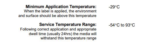 etichette basse temperature