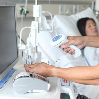 stampante per etichette in ospedale e a bordo letto