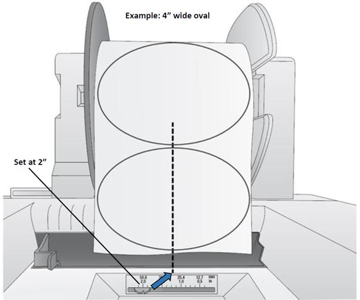 impostazione sensore etichette circolari stampanti Primera