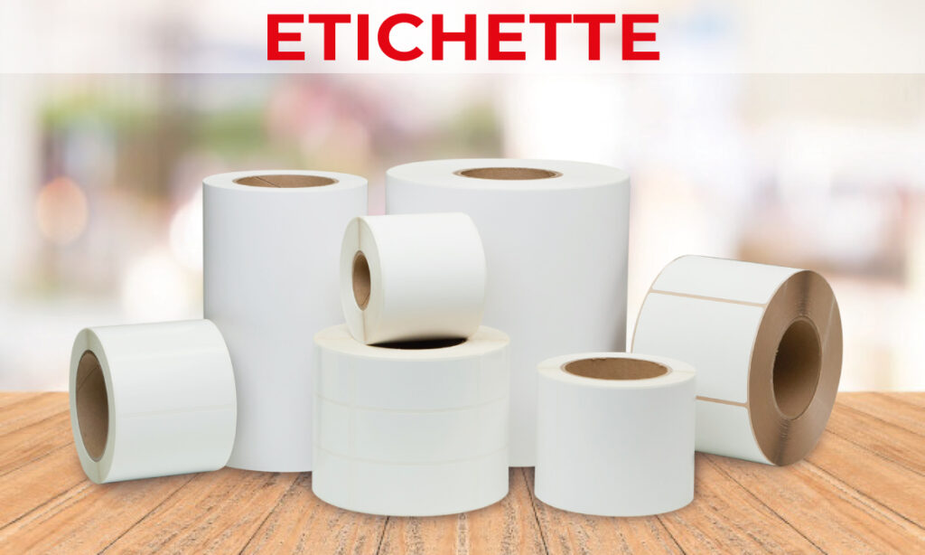 etichette adesive per stampanti termiche e a getto d'inchiostro