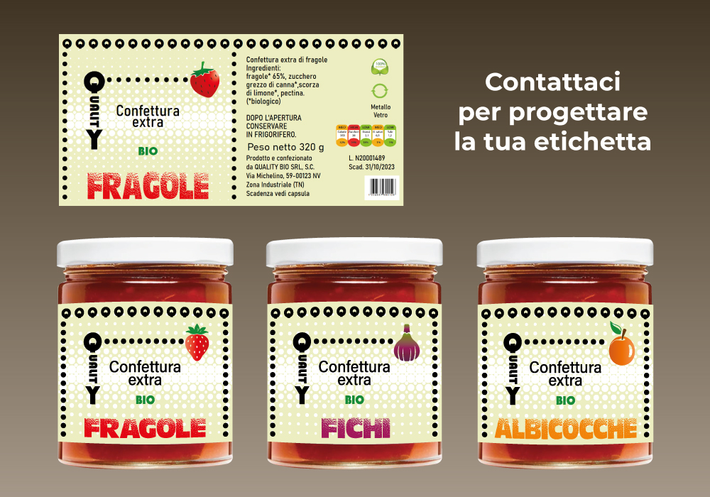 ETICHETTE PER CONFETTURE E MARMELLATE grafica design