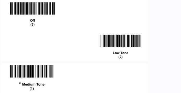 suono del beep nei lettori barcode Zebra