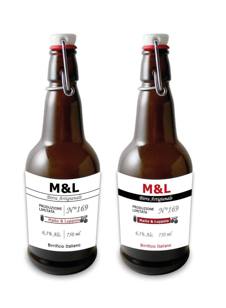 grafica minimalista per etichette di birra
