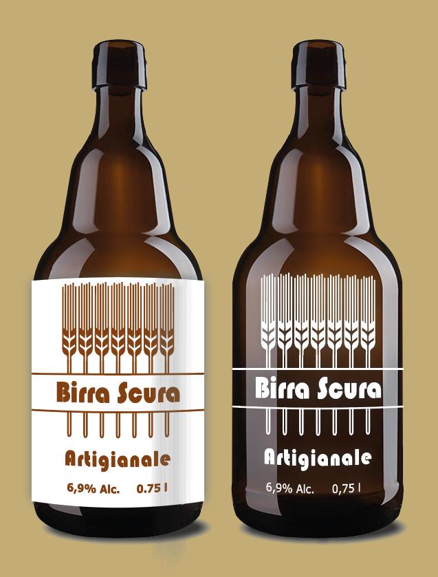 grafica etichette di birra stampa a trasferimento termico