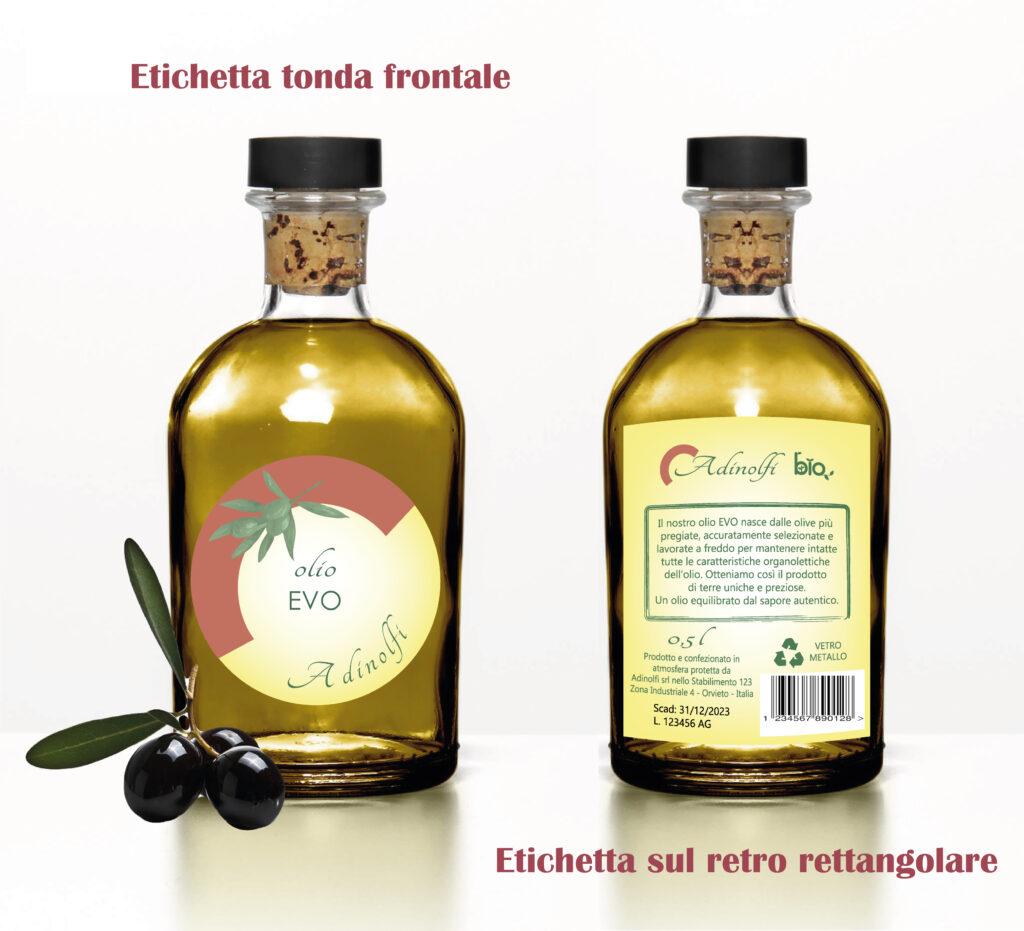 come stampare un'etichetta fronte e retro per olio di oliva