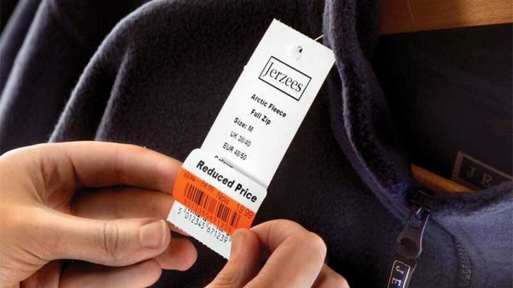 etichette e cartellini per abbigliamento