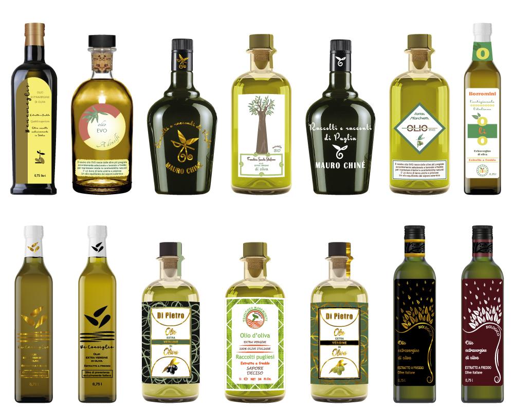 grafica etichette per olio extravergine di oliva
