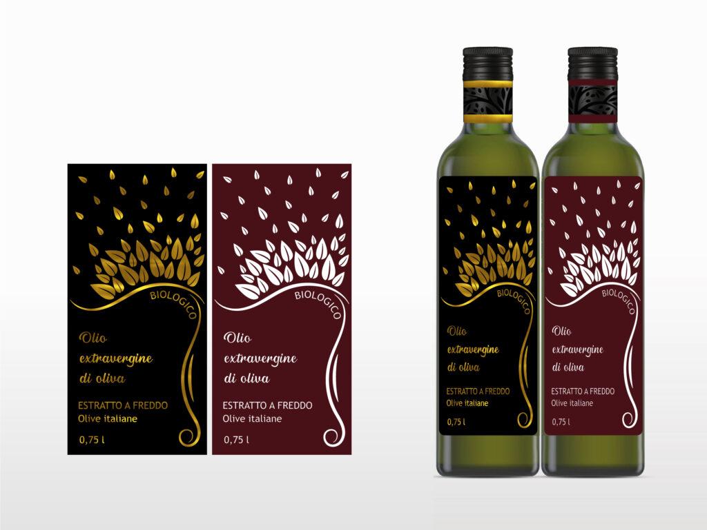 grafica etichette adesive per olio di oliva stampa oro a trasferimento termico