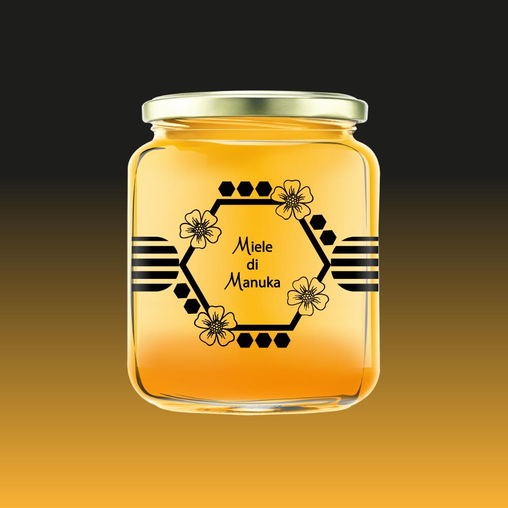 grafica etichette adesive per miele
