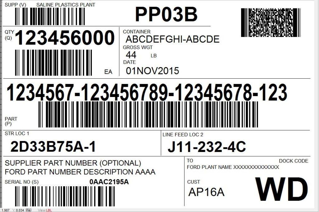 etichetta con più codici a barre come leggerla