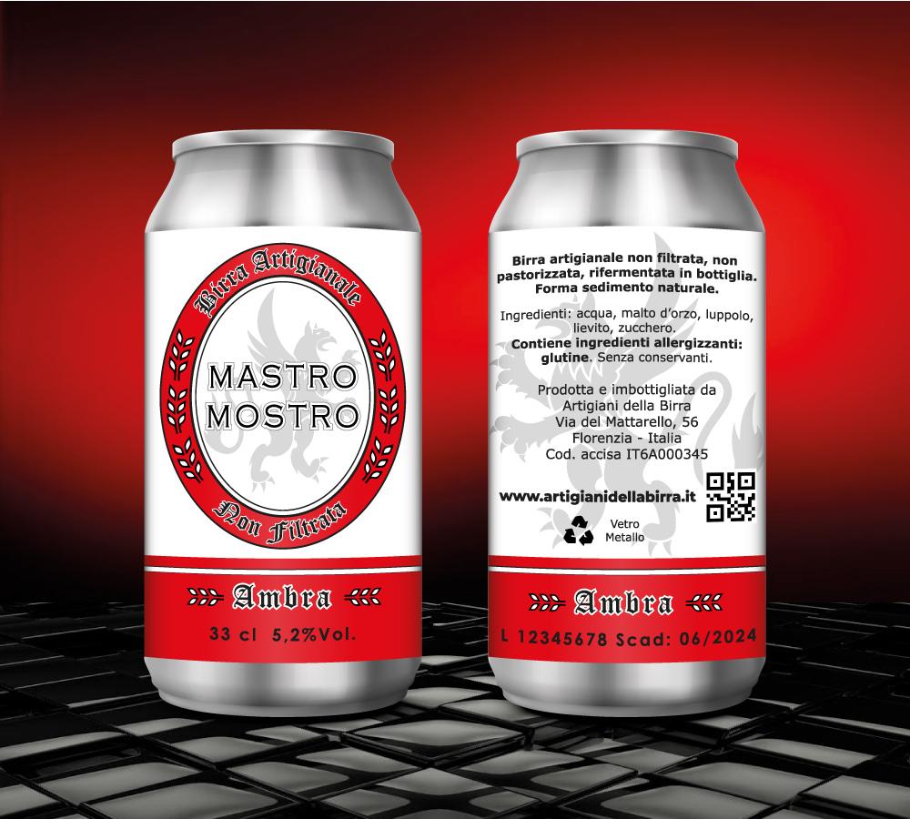 grafica etichette adesive per birra in lattina