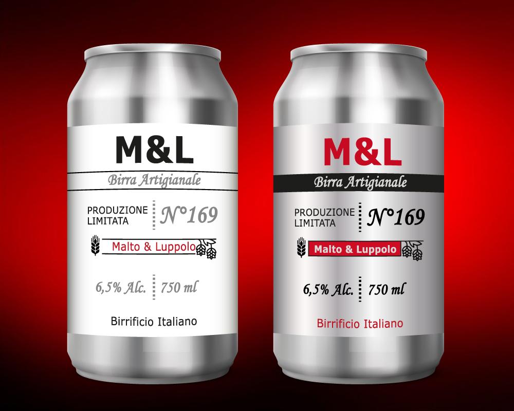 grafica etichette per birre in lattina