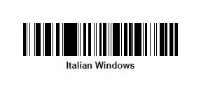 impostazione tastiera italiana lettore Zebra LS2208