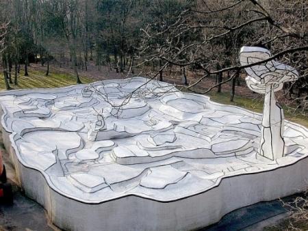 Jean Dubuffet, Jardin d'émail, 1974, Beton, glasvezel, versterkt epoxy, polyurethaan verf, ca. 10 x 20 x 30 m, Otterlo, Museum Kröller-Müller.