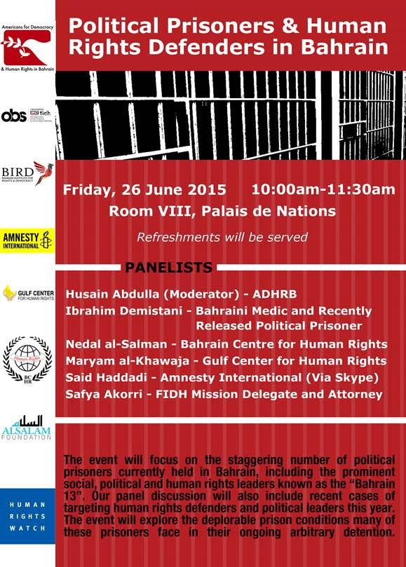 Political Prisoners & Human Rights Defenders in Bahrain
