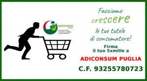 5 x 1000 Adiconsum Puglia