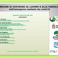 Misure di sostegno al lavoro e alle famiglie nell'emergenza sanitaria da COVID-19