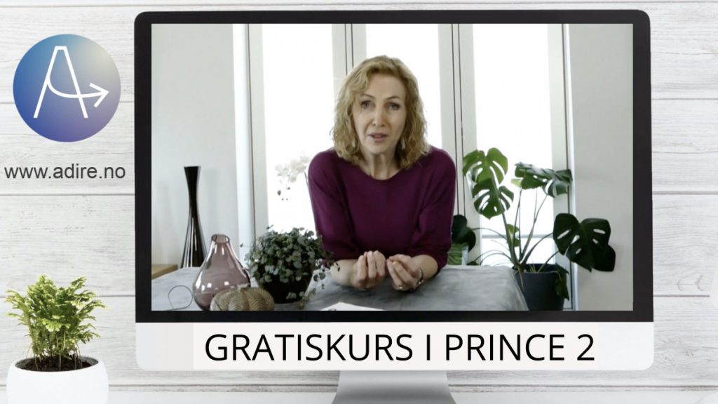Forsidebilde til prosjektkurs: PRINCE2 Bilde av Elin og logo.