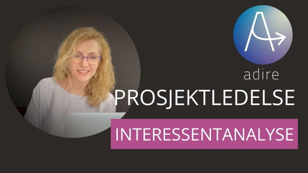 Forsidebilde til prosjektkurs: Interessentanalyse i prosjekter. BIlde av Elin og logo.